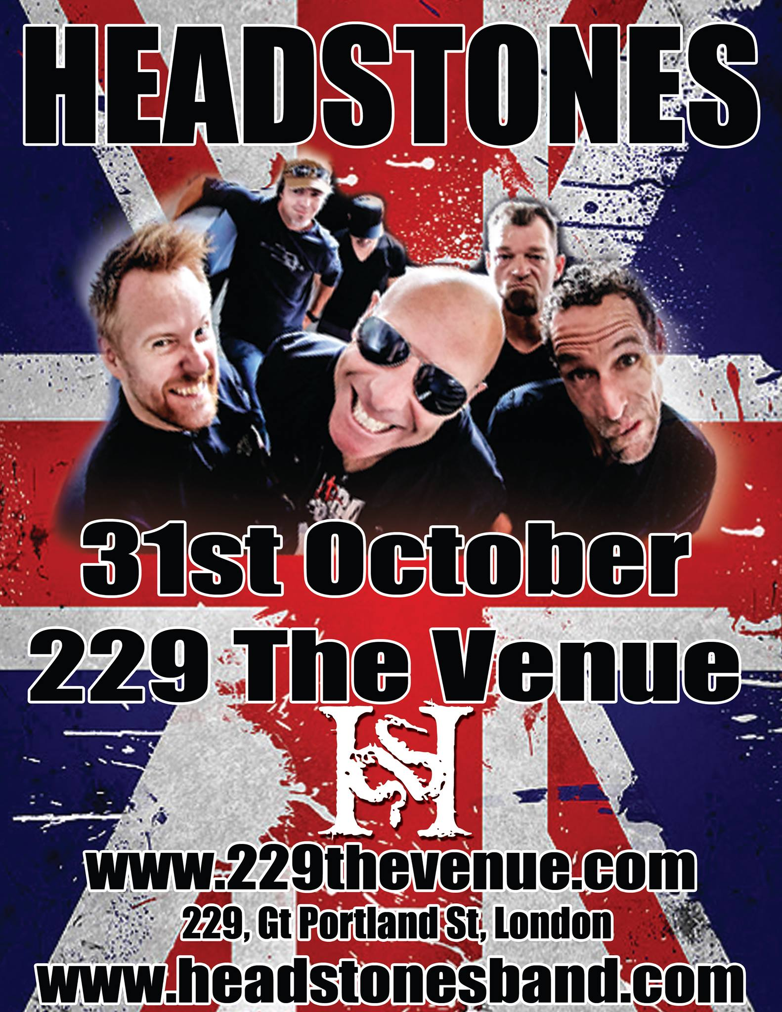 HEADSTONES TOUR POSTER - UK 2016